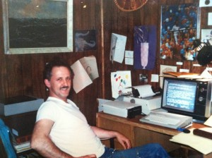 Dr. Ayre in his home office circa 1989