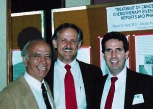 The Drs. Donato Perez Garcia y Bellon, Steven G. Ayre and Donato Perez Garcia presenting at MD Anderson in 1989