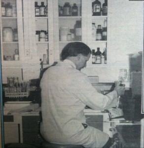 Dr. Ayre in his lab